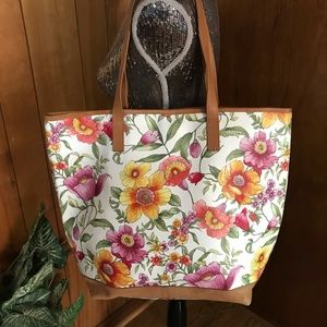 Printed Leather Tote from Gianni Notaro